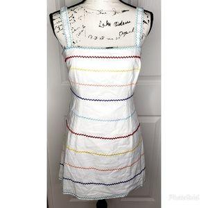 Forever 21 White Multi-Color Sleeveless Dress
